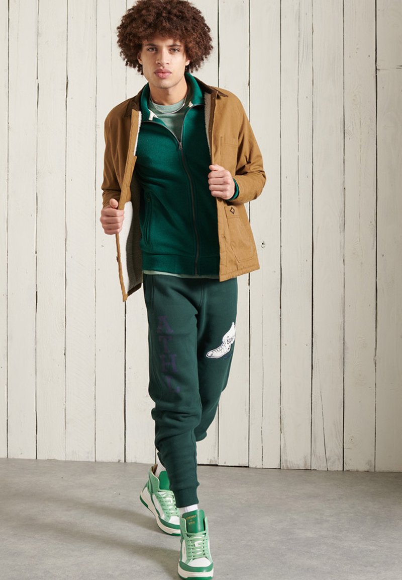Superdry - Tracksuit bottoms - pine