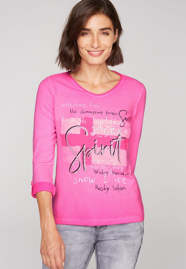 Long sleeved top - electric magenta