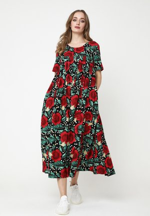Maxi dress - schwarz rot