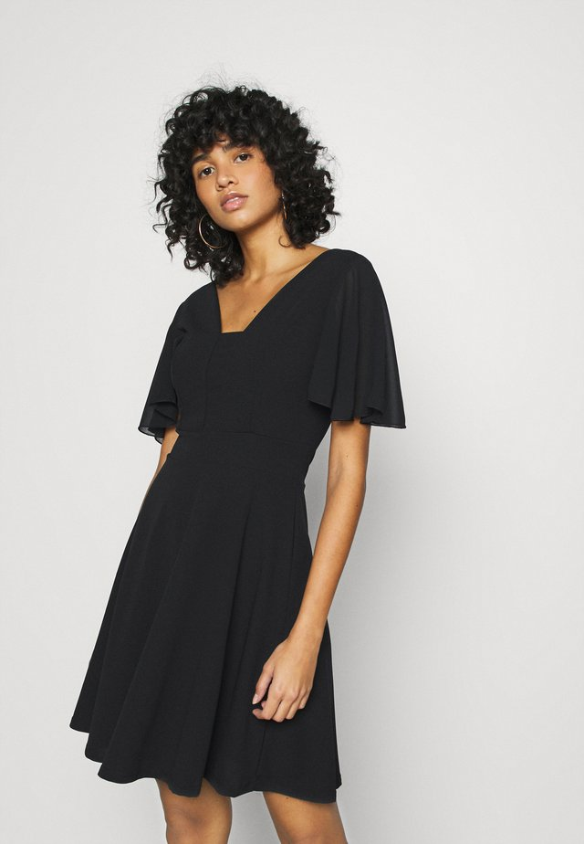 KYLA SKATER DRESS - Korte jurk - black