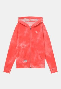 Abercrombie & Fitch - Zip-up hoodie - coral - 0