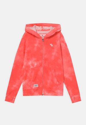 Zip-up hoodie - coral