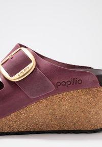 Papillio - NORA - Pantofle na podpatku - zinfandel - 2
