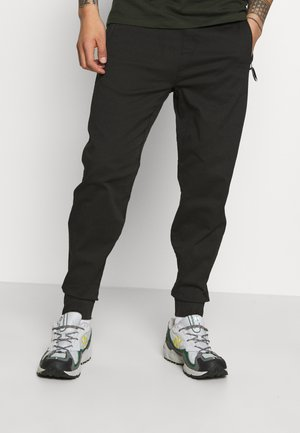 JOGGER TAPER - Trousers - black