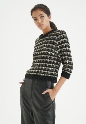 AMIEIW  - Sweter - black / white