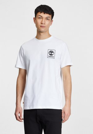 Print T-shirt - white/black