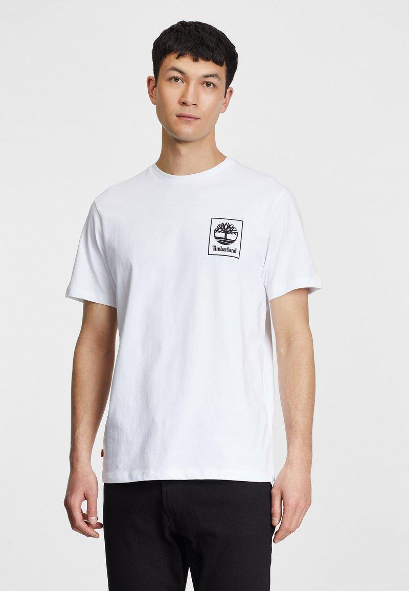 Timberland - Print T-shirt - white/black