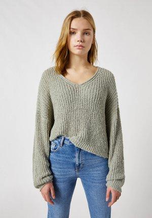 Sweter - khaki