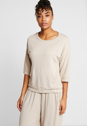 FELPA GIROCOLLO - Long sleeved top - ceramic