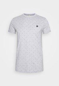 Print T-shirt - grey triangle stripe print