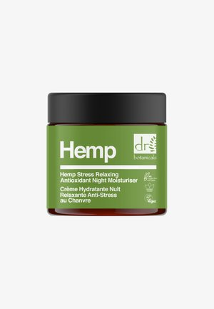 HEMP STRESS RELAXING ANTIOXIDANT NIGHT MOISTURISER 50ML - Nachtverzorging - -