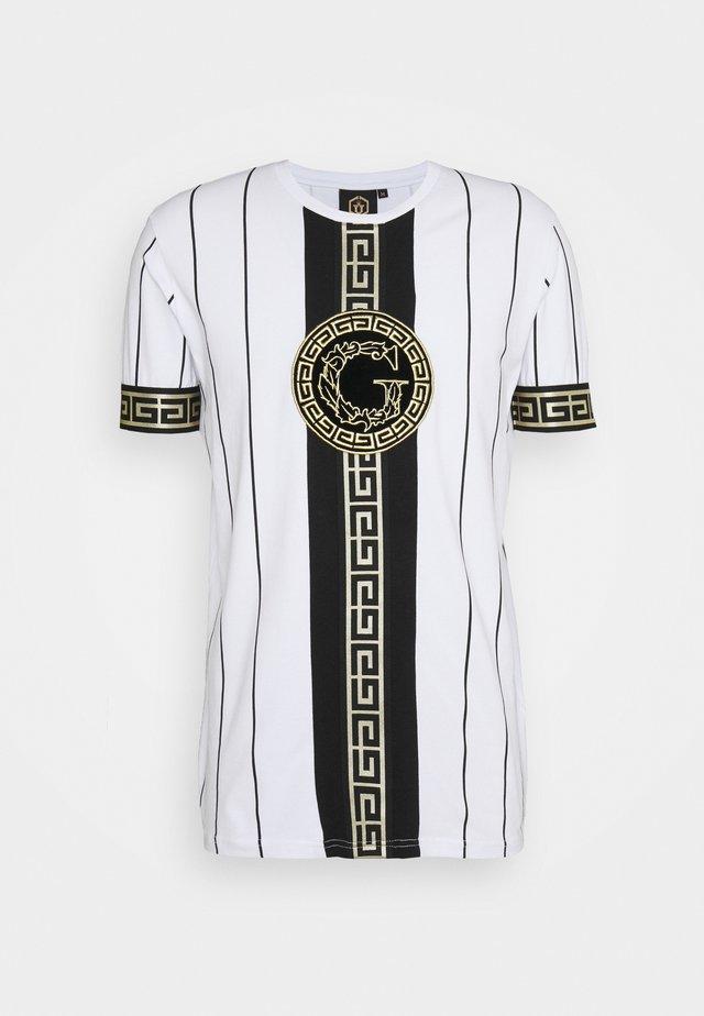 SANTAGO TEE - T-shirt med print - optic white
