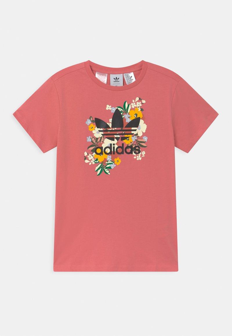 adidas Originals - FLORAL TREFOIL  - Print T-shirt - hazy rose/multicolor/black