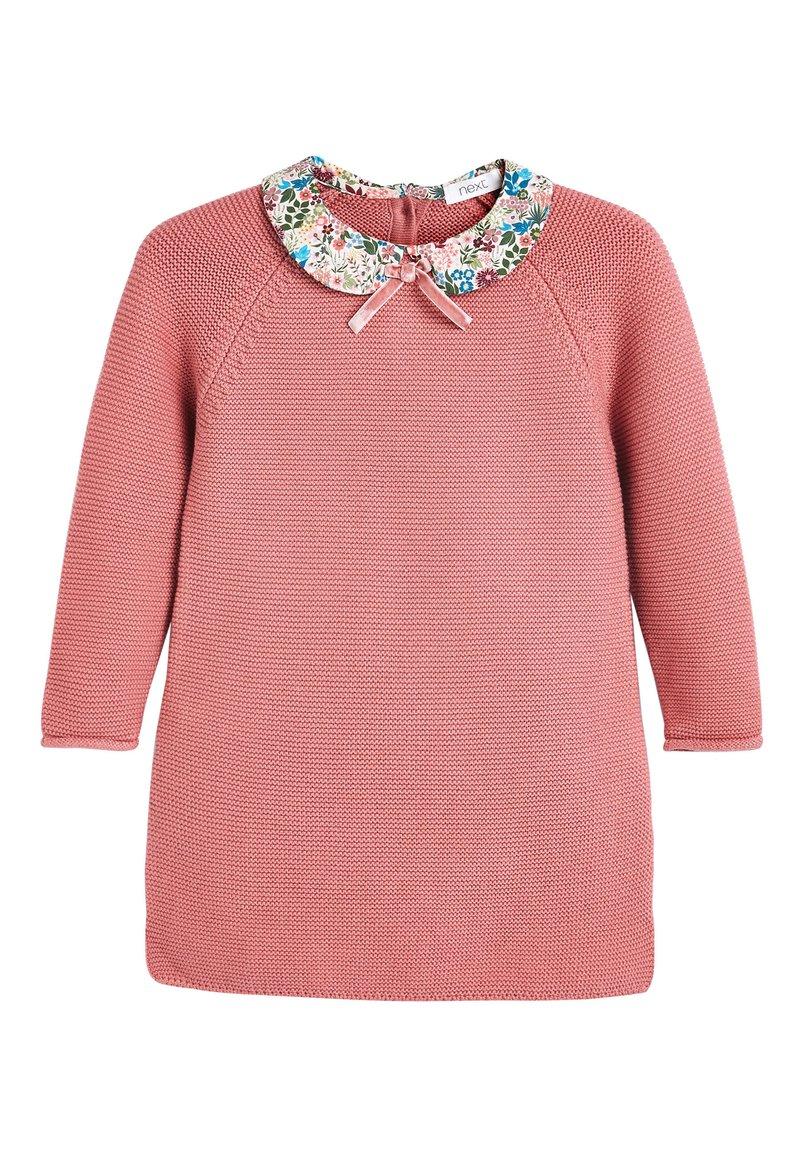 Next - PINK PRINTED COLLAR JUMPER DRESS (3MTHS-7YRS) - Jumper - pink
