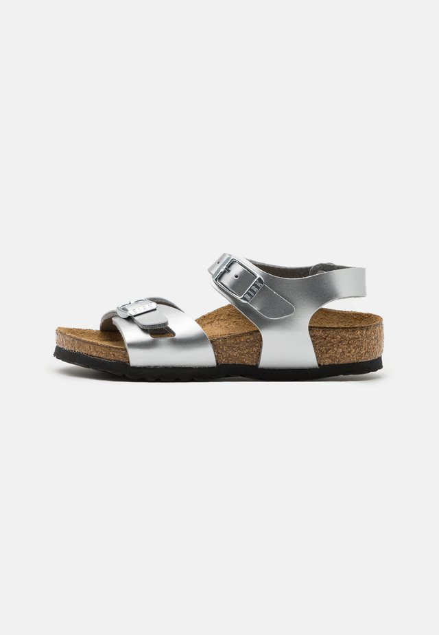 RIO KIDS - Sandals - electric metallic silver