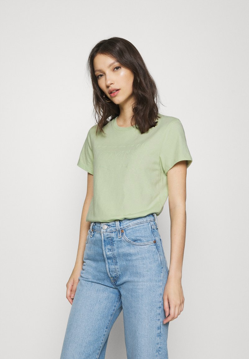 Levi's® - THE PERFECT TEE BATWING OUTLINE BOK CHOY - T-shirt med print - greens