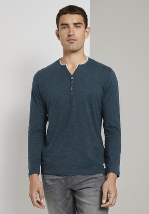 SERAFINO  - Long sleeved top - dark green thin stripe