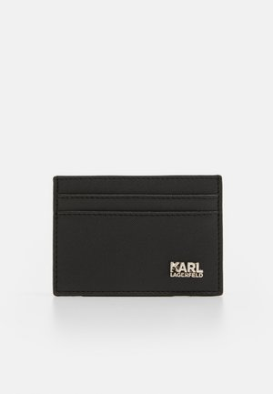 CARDHOLDER BASIC WITH STACK LOGO  - Geldbörse - black/silver