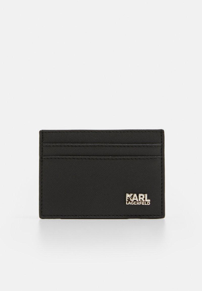 KARL LAGERFELD - CARDHOLDER BASIC WITH STACK LOGO - Wallet - black/silver