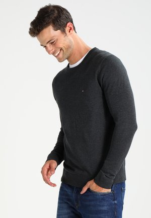 C-NECK - Jumper - charcoal heather