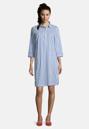 Shirt dress - blau/weiß