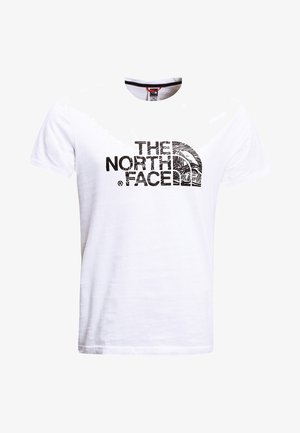 WOODCUT DOME TEE - T-shirt med print - white/black
