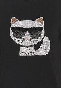 KARL LAGERFELD - IKONIK CHOUPETTE  - Print T-shirt - black - 2