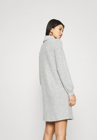 GAP - TURTLENECK DRESS - Gebreide jurk - light grey marle - 2