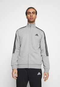 adidas Performance - Tuta - medium grey heather/black - 0