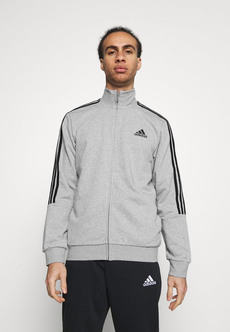 adidas Performance - Tuta - medium grey heather/black
