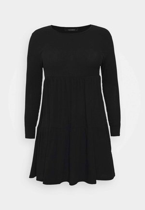 TIERED HEM DRESS - Vestido informal - black