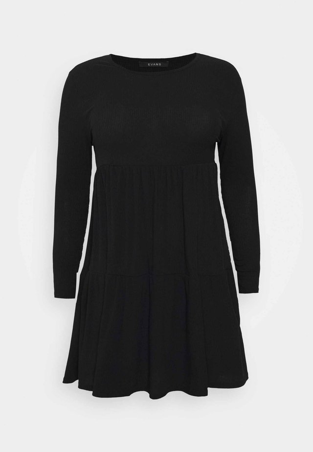 TIERED HEM DRESS - Day dress - black