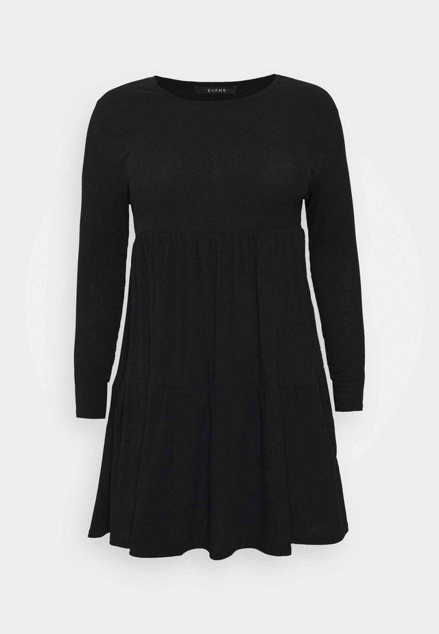 TIERED HEM DRESS - Vestito estivo - black