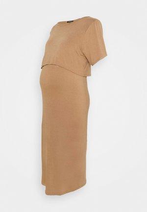 NURSING DRESS - Žerzejové šaty - brown