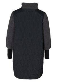 Zizzi - QUILTED TEDDY  WITH POCKETS - Down coat - black comb - 8