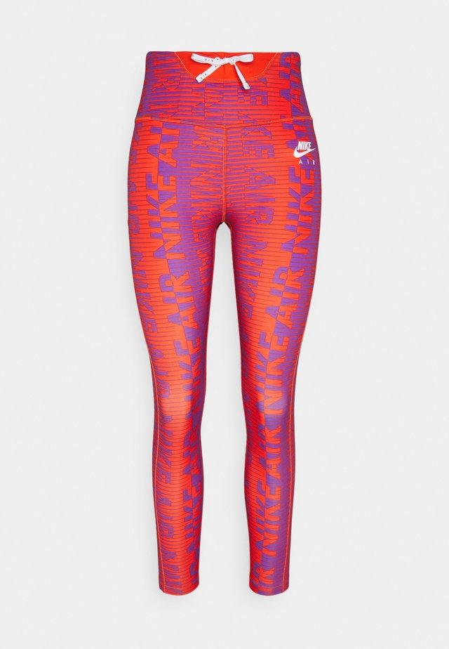 Leggings - team orange/reflective silver