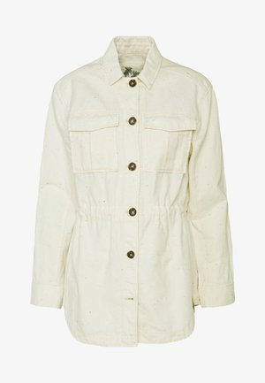 ARMY SHIRT JACKET - Lehká bunda - antique white melange