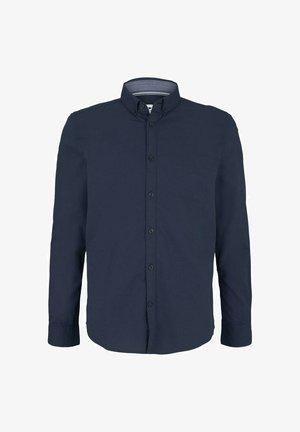Shirt - navy tonal dobby structure