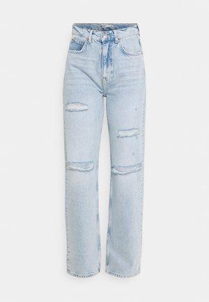 HIGH WAIST - Jeans relaxed fit - cloud blue destroy