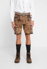 Krüger Dirndl - Kožené kalhoty - light brown - 2