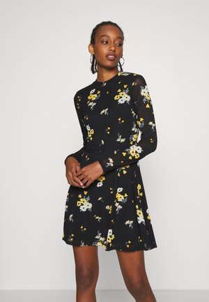 Day dress - black / yellow