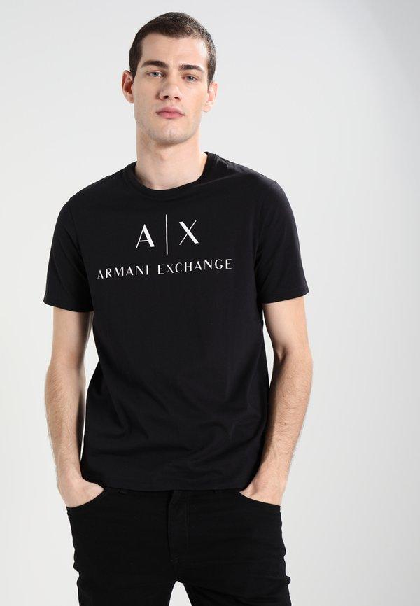 Armani Exchange T-shirt z nadrukiem - black/czarny Odzież Męska UVZN