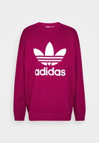 adidas Originals - CREW ADICOLOR - Sweatshirt - power berry/white - 4