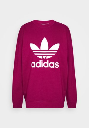 CREW ADICOLOR - Sweatshirt - power berry/white