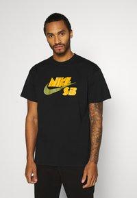 Nike SB - TEE LOGO UNISEX - Print T-shirt - black - 0