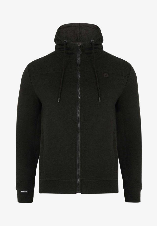 KANGOL  - Zip-up hoodie - black