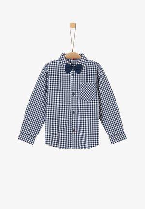 MIT ABNEHMBARER SCHLEIFE - Shirt - dark blue check
