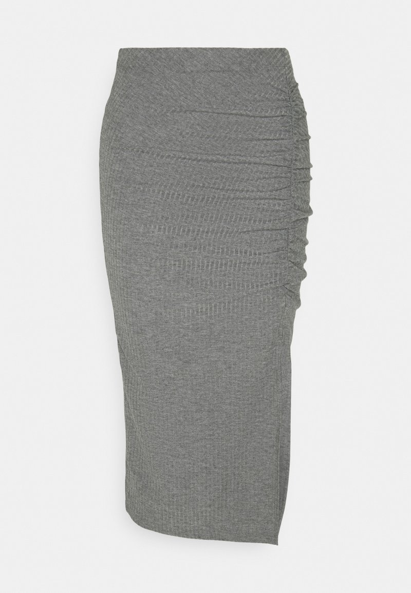 ONLY - ONLNELLA SLIT SKIRT - Bleistiftrock - medium grey melange