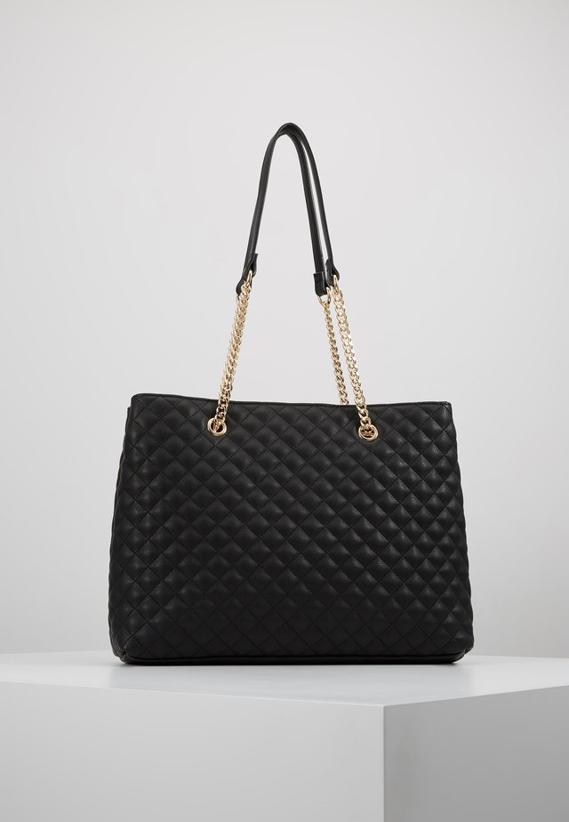 QUILTED SHOULDER BAG - Handbag - black