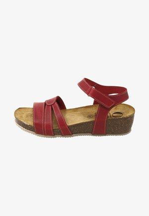 Sandalias de cuña - rojo
